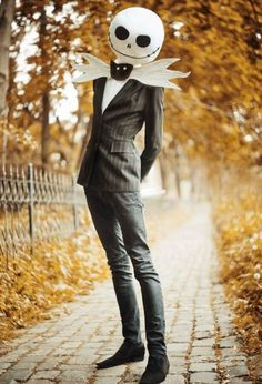 Dress up your suit for a fun #Halloween look: Jack Skellington from TImburton's The Nightmare before Christmas movie.