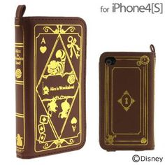Disney Character Old Book Case for iPhone 4S/4 (Alice in Wonderland)