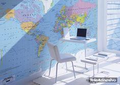Fotomurales 30º: mapa mundo 1