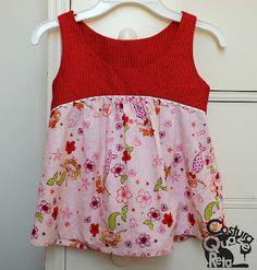 batinha costura infantil girl's top - Mccalls