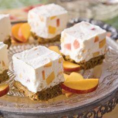 Frozen Peach-and-Cream Squares