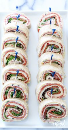 Italian Sub Sandwich Roll-ups / delicious and simple appetizer recipe.