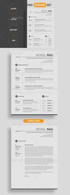 Resume Template Word Microsoft word, Professional resume - fill in resume template