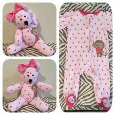 Urso feito a partir de Macacão de Bebé - http://coisasdamaria.com/urso-feito-a-partir-de-macacao-de-bebe/