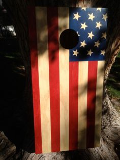 American flag cornhole game available at https://www.etsy.com/listing/165001384/cornhole-game-by-coloradojoes-american?