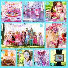fairy party- cute (home made) ideas. Kids can have fun with out spending lots of money.