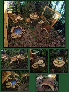 """Minibeast small world play - from Rachel ("""",) Autumn Eyfs Activities, Animal Activities, Montessori Activities, Summer Activities For Kids, Infant Activities, Baby Garden Ideas, Garden Ideas Eyfs, Eyfs Outdoor Area, Outdoor Play"""