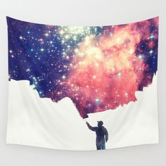 Painting+the+universe+Wall+Tapestry+by+Badbugs_art+-+$39.00