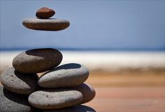 levitating rock cairn