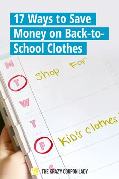 """If you're back-to-school shopping and trying to save money on back to school clothes, there are things you need to remember in order to save as much as possible and stay under budget. Families are shopping for back-to-school outfits for girls & boys and need to know how to save money on back-to-school clothing. Most money-saving advice online says basically """"buy less,"""" but what if that's not an option? If you need to save on new school clothes, The Krazy Coupon Lady has you covered. Back To School Shopping, Back To School Outfits, School Clothing, Coupon Lady, Back To School Supplies, Free Things To Do, Money Saving Tips, Boys, Girls"""