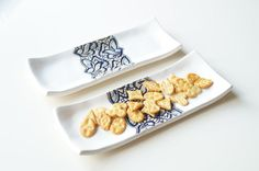 Serving Plate Set of 2 Snack Set Snack Plate Tapas Tray by bemika