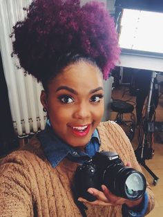 Image result for purple hair dye on natural hair