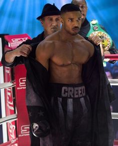Sylvester Stallone Says 'Creed II' Is Likely His 'Last' Round as Rocky Balboa Gorgeous Black Men, Cute Black Guys, Pretty Men, Beautiful Men, Michael B Jordan, Rocky Balboa, Sylvester Stallone, Rocky Ii, Carmen Sandiego