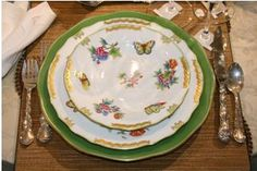 """Herend """"Queen Victoria""""  I have a lovely little heart shaped, covered dish in this pattern. It's so expensive, I am afraid to touch it!"""