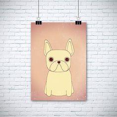 Original Drawing French Bulldog 8.5x12 up to by EnchantedCrayons