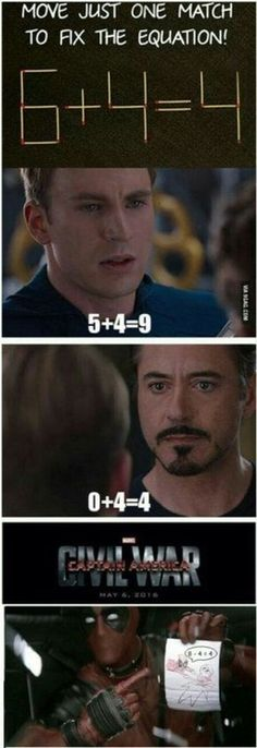 Unfortunately for Tony, that equation wouldn't work. Oops <<< uh yeah it totally would actually