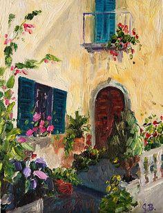 tuscany italian oil painting
