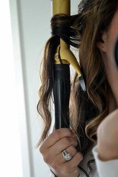The BEST curling tip to longer lasting curls! Start out curling from halfway for 10 seconds, then loosen clamp and curl from end of hair for another 5 seconds. This does less damage to your ends.