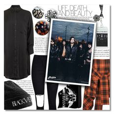 """""""BVB Backstage!"""" by isabeldizova ❤ liked on Polyvore featuring Vivienne Westwood Anglomania, Topshop, WithChic, black, rock, urban and BLACKVEILBRIDES"""