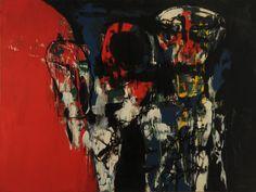 Adan y Eva N° 2 (1963) Oleo y esmalte sintético sobre tela - Ernesto Deira (Argentina 1928-1986) Museo Nacional de Bellas Artes de Buenos Aires
