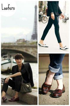 Uma mistura super harmoniosa entre mocassins e slippers que deu certo são  os loafers. Super 331a263700