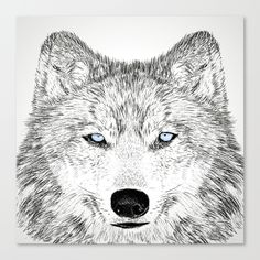 wolf Stretched Canvas by creaziz | Society6