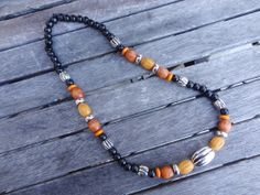 Wood bead necklace Jewerly, Helmet, Beaded Necklace, Beads, Wood, Design, O Beads, Jewelry, Jewels