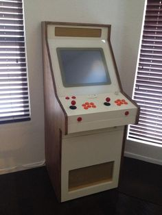 Gorgeous home made retro-modern arcade cabinet.