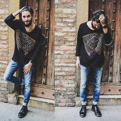 Elia Franceschetti - Zara Sweaters, Soorty Jeans Denim, Dr. Martens Boots, Ale Hop Watch - Enjoy! :)