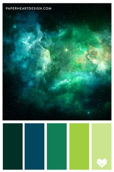 This nebula looks like the ocean with these green and blue hues. Green Galaxy, Galaxy Colors, Green Colour Palette, Green Colors, Ocean Color Palette, Jewel Tone Colors, Galaxy Painting, Color Balance, Shades Of Turquoise