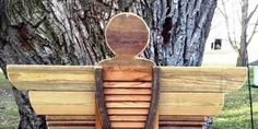 How to make an adorable garden angel from an old shutter Do you have an old shutter laying around? Here's something fun to do! A shutter, some scrap wood,