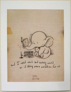 "Kurt Halsey's ""Every Word"" print."