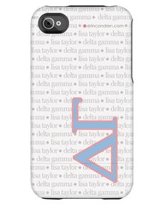 Hello Delta Gee sistas! Check out the new phone cases by Erin Condren flaunting our letters!!! Ahhhhh-dorable!