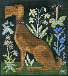 Waldorff is the title of this cross stitch pattern from Homespun Sampler.