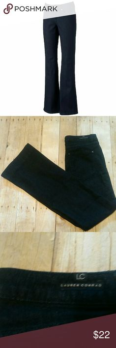 """Lauren Conrad Dark Wash Trouser Jeans Size 2 This listing is for a pair of Lauren Conrad trouser jeans in a dark wash. They are size 2 and in excellent condition. They are 98% cotton and 2% spandex. The waist measures at 16"""" when measured flat. The inseam is 33"""".   #236 Lauren Conrad  Jeans"""
