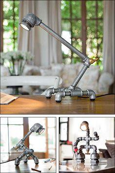 Kozo Iron Pipe Lamp Composite Main