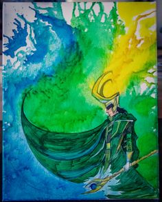 Loki Melted Crayon Art by MeltedFanArt on Etsy, $40.00