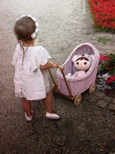 Dolls Prams, Wicker, Little Girls, Flower Girl Dresses, Crafty, Trending Outfits, Wood, Handmade Gifts, Etsy