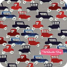 Town and Country Grey Cars Yardage SKU# STELLA-77-GRAY - Fat Quarter Shop