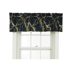 Set of (TWO) - REALTREE AP Black Camo Window Valance Curtains - 88x18 Camouflage #Realtree #CamoNatureCabinLodgeRanch