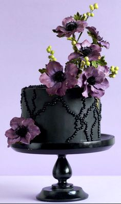 Goth style cake from cake central