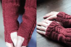 Mitaines sans pouces motif torsades, aiguilles circulaires n°3 Fingerless Gloves, Arm Warmers, Creations, Couture, Fashion, Circular Needles, Fingerless Mittens, Knits, Pattern