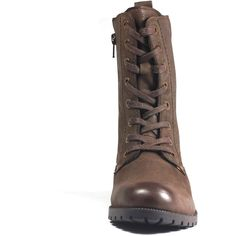 f09e4a301beb Aspele Women s Brown Nubuck Leather Combat Biker Ankle Lace Up Boots ( 92)  ❤ liked