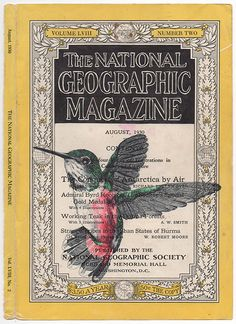 Bic biro drawing on a 1930 National Geographic magazine by Mark Powell