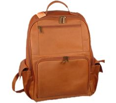 David King Leather 352 Large Computer Backpack - Tan with FREE Shipping & Exchanges. This large computer backpack features one roomy main section with a padded computer section. The