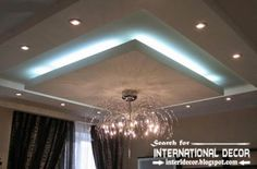 LED ceiling lights, LED strip lighting in the interior