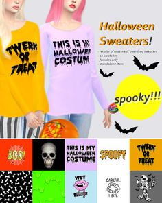 Sulsul Sims: Halloween Sweaters • Sims 4 Downloads