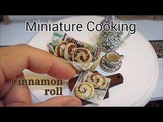 Mini food #99 ミニチュア料理『Cinnamon roll シナモンロール』 How to make Miniature food (edible) Tiny food - YouTube