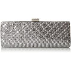 Jessica McClintock Bailey Clutch Evening Bag ($22) ❤ liked on Polyvore featuring bags, handbags, clutches, white handbags, white purse, mesh handbags, evening hand bags and jessica mcclintock purse
