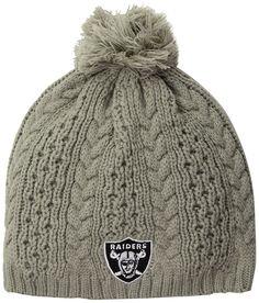 9a56c07bb7b Amazon.com   NFL Oakland Raiders Women s Valerie OTS Beanie Knit Cap with  Pom